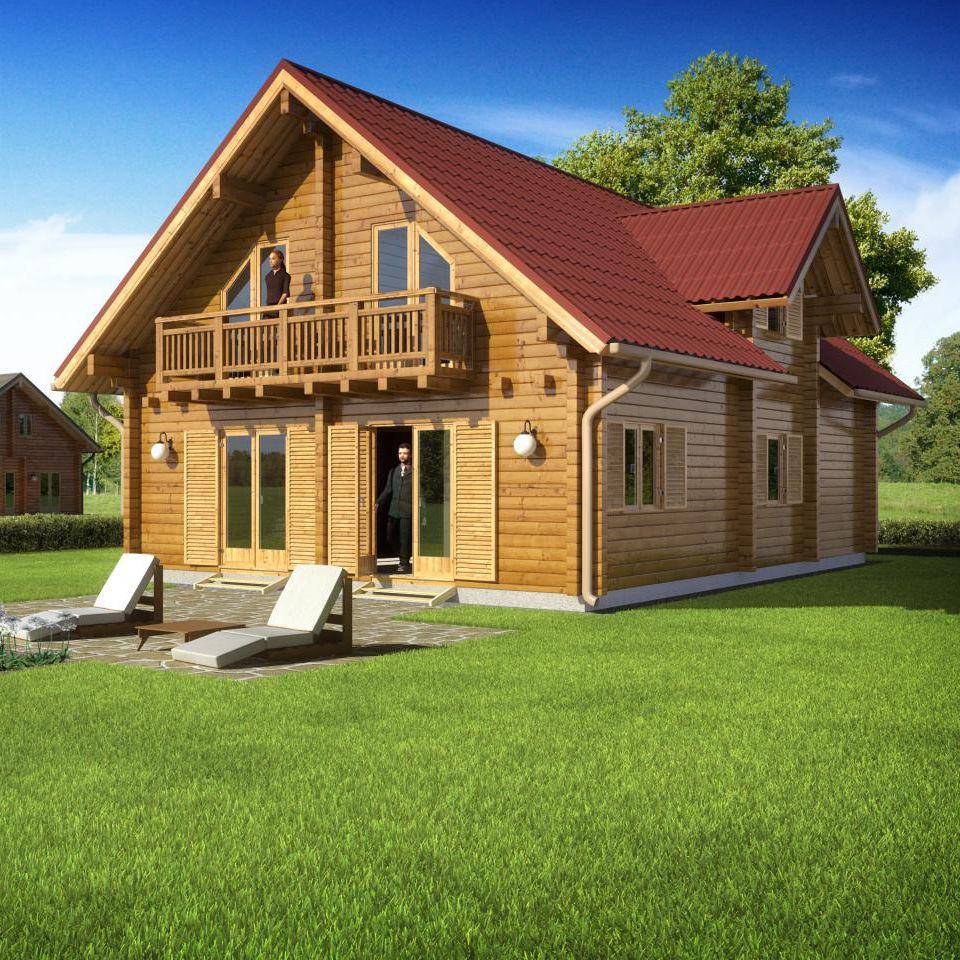 maison préfabriquée / contemporaine / à ossature bois / en bois