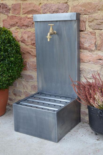 Fontaine de jardin / en zinc / contemporaine - COQUELICOT - MISTERZINC