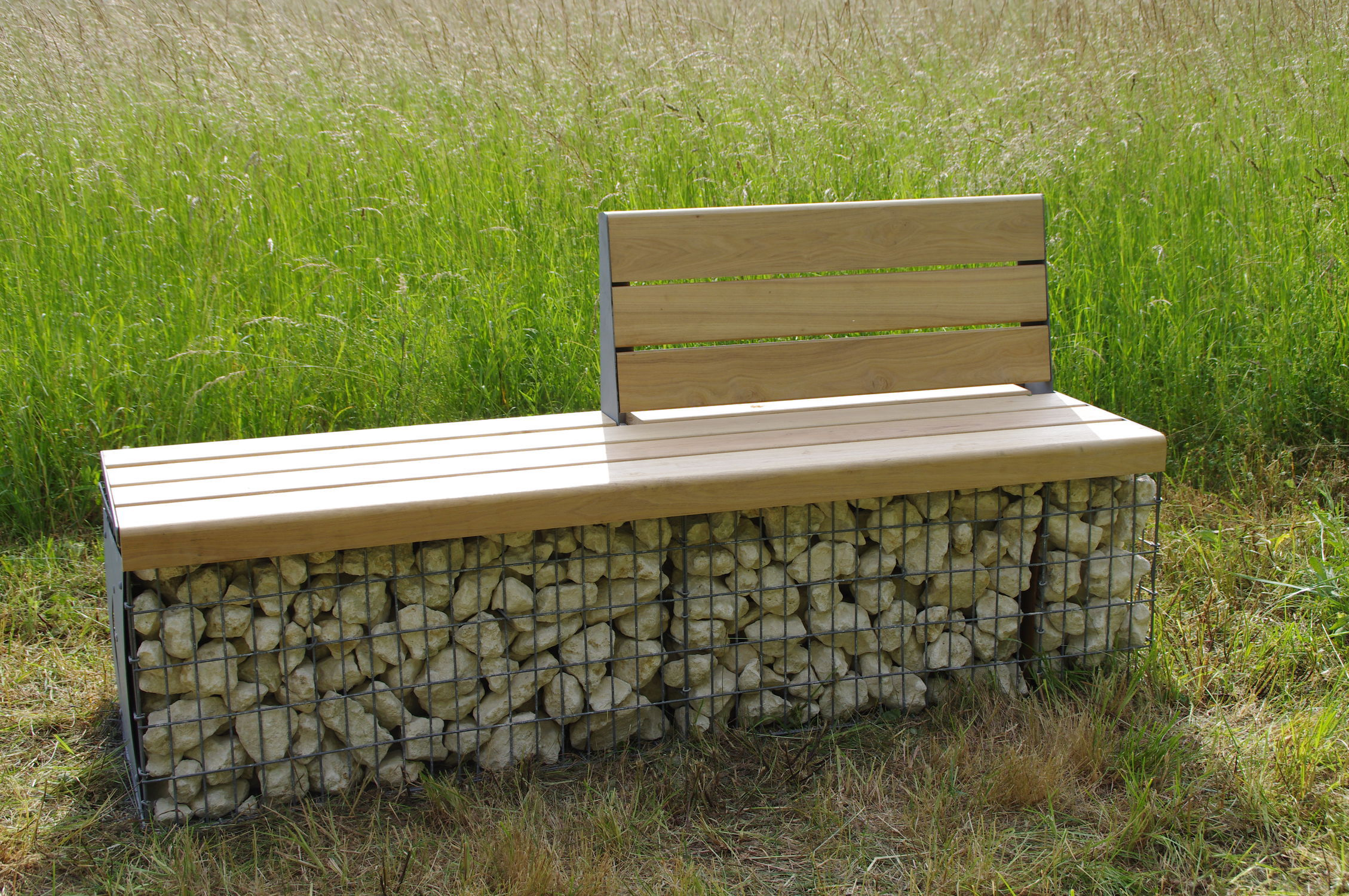 Banc public / de jardin / contemporain / en bois massif - MOBILIER ...