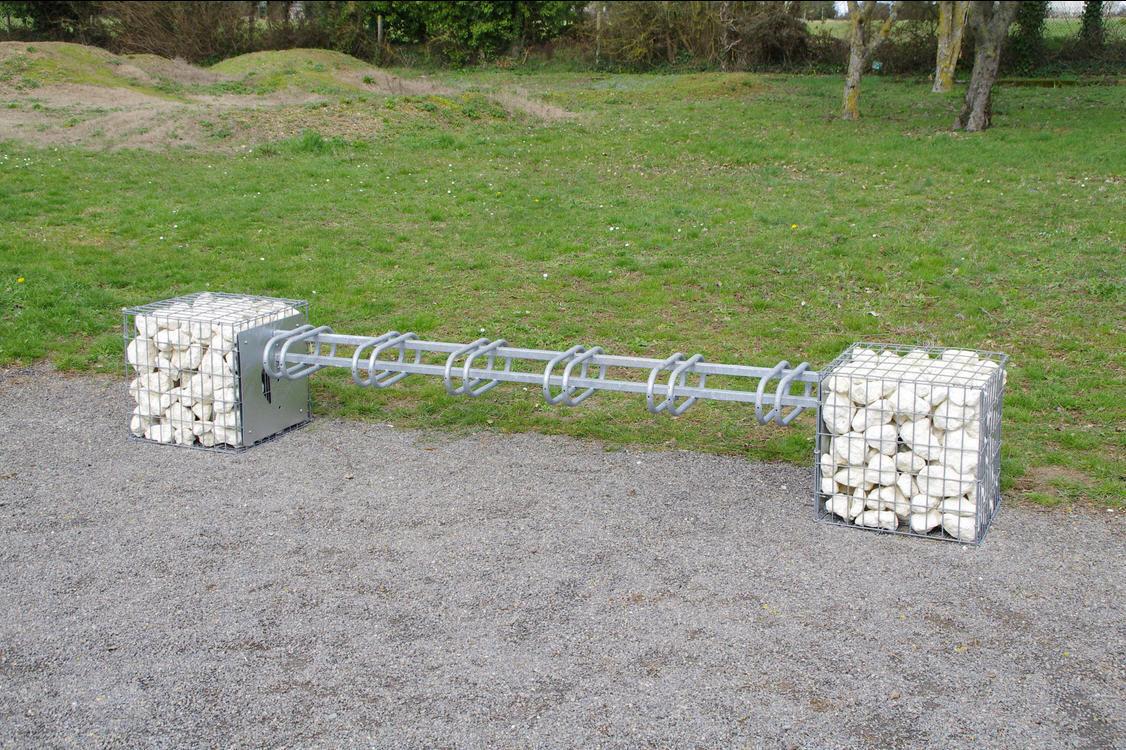 gabion pour agencement extrieur en acier galvanis avec range vlo intgr - Range Velo Exterieur