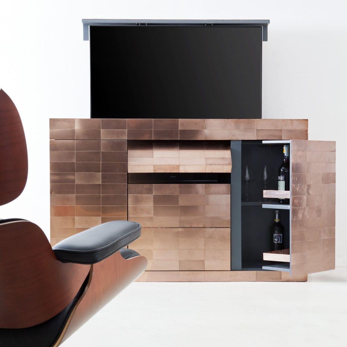 Meuble Tv Contemporain Sur Mesure Pour Chambre D H Tel  # Meuble Tv Ascenseur