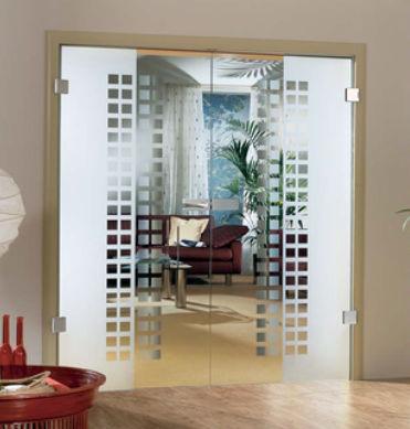 Porte interieur vitree double battant