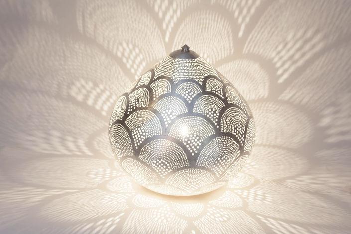 Lampe de table contemporaine en laiton fait main princess