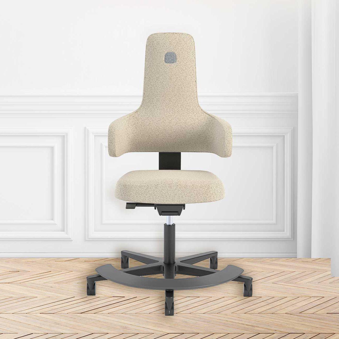 Fauteuil De Bureau Design Scandinave En Tissu Pivotant à