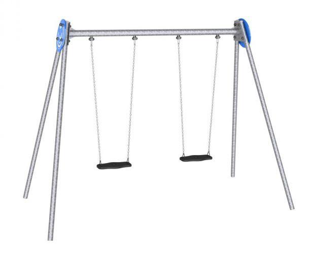 Balançoire en aluminium / en bois / pour parc de jeux / double - ZEA on