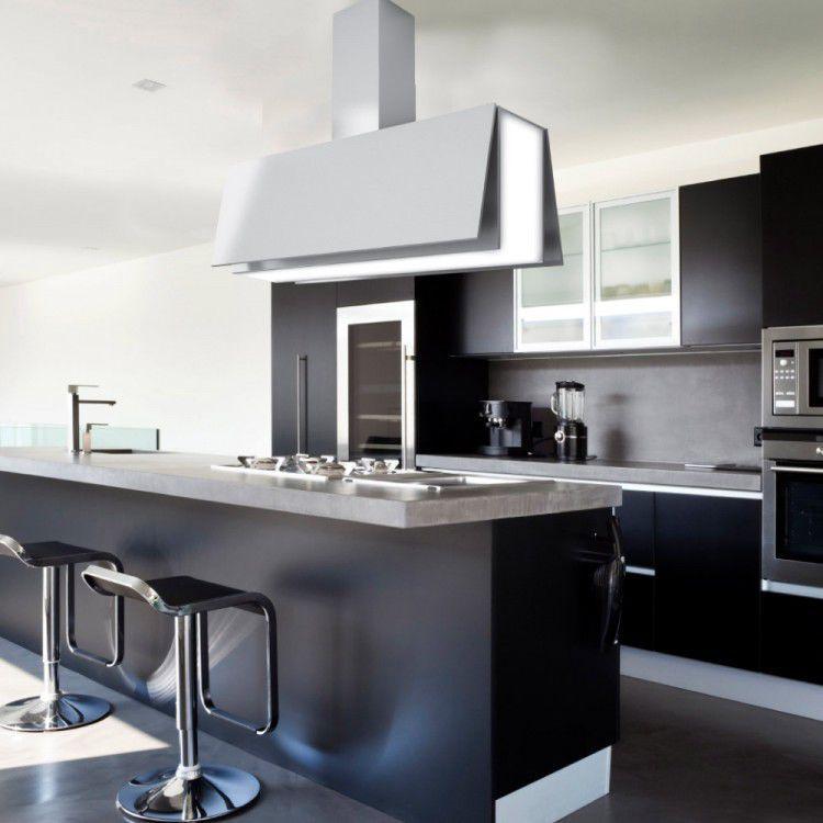Hotte de cuisine îlot / avec éclairage intégré / professionnelle ...