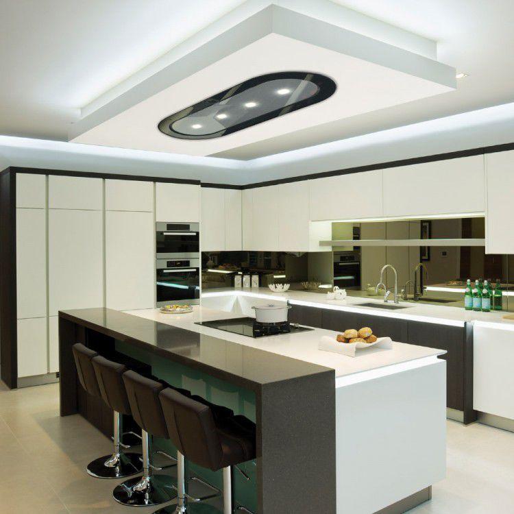 Hotte De Cuisine De Plafond Avec éclairage Intégré LA - Hotte de cuisine plafond
