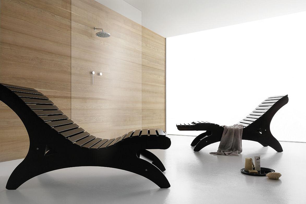 Chaise Longue Design Minimaliste En Bois Pour Centre De Bien