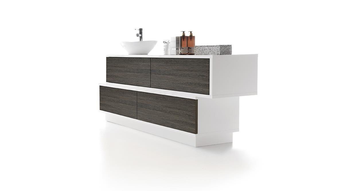 Meuble Salle De Bain Swing ~ meuble vasque poser en bois laqu contemporain avec tiroirs