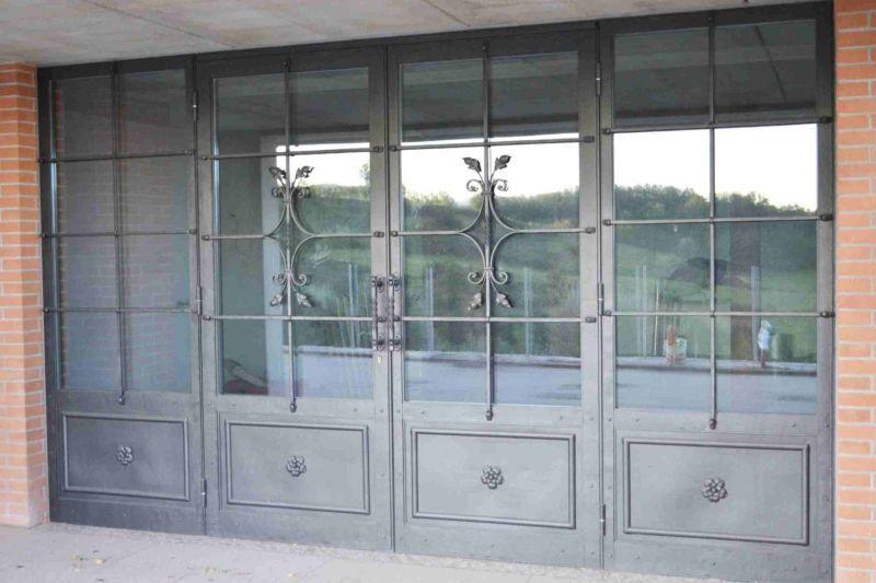 Porte Fenêtre Battante En Fer Forgé à Double Vitrage 2