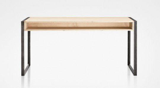 Bureau contreplaqué en acier contemporain by nicholas rose