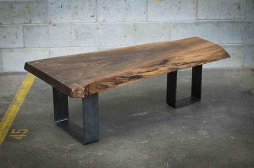 Table Basse Design Original En Chêne En Noyer En Bois Massif