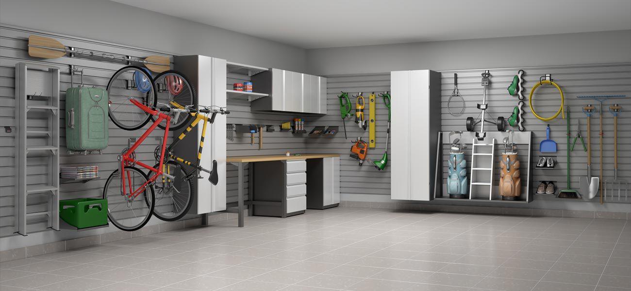 Etagere Murale Contemporaine En Acier Pour Garage Box
