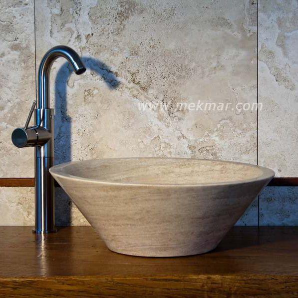 Vasque à Poser / Ronde / En Travertin / Contemporaine   10