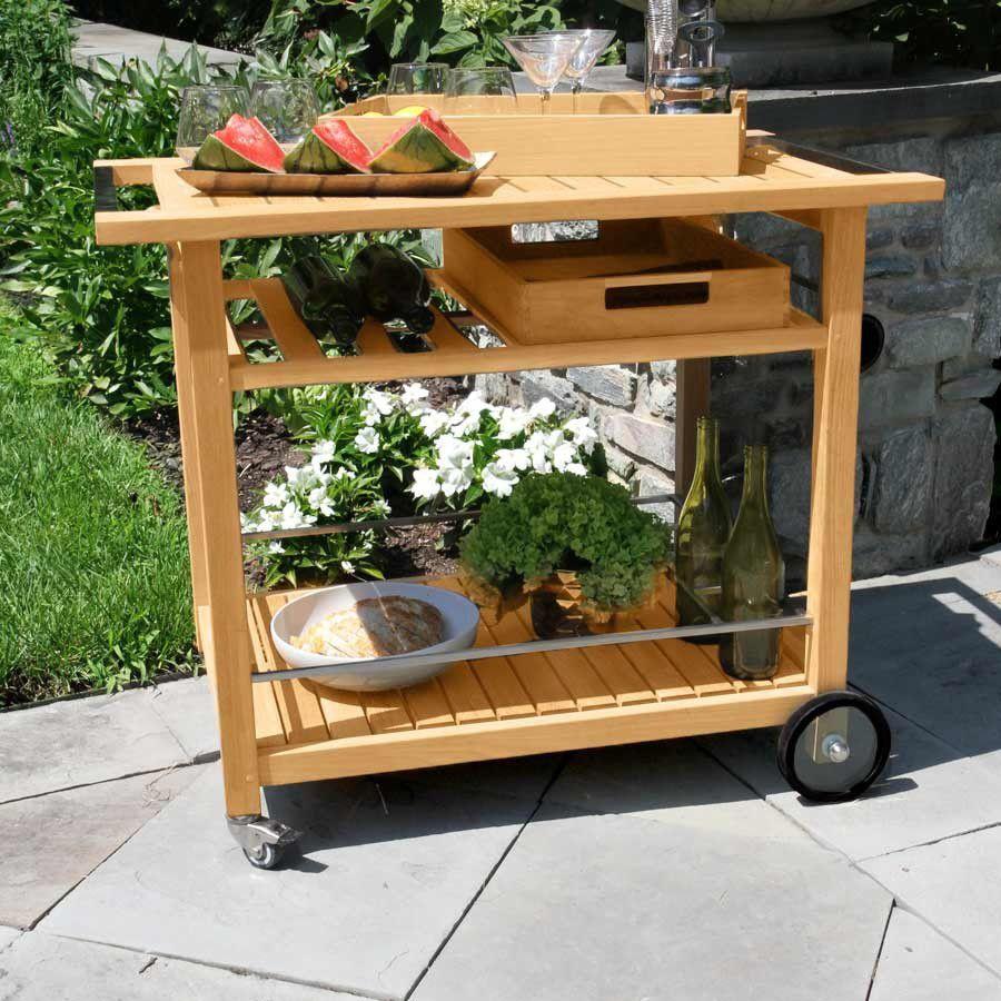 Desserte de jardin / en teck / en acier inoxydable / résidentielle ...