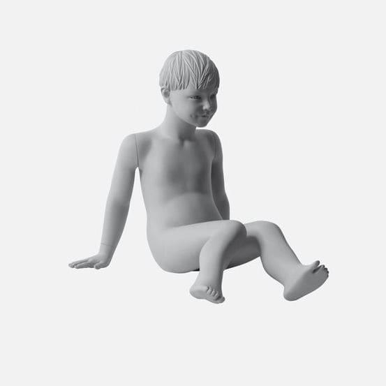 Mannequin De Vitrine Enfant Realiste Assis Daisy Idw Paris