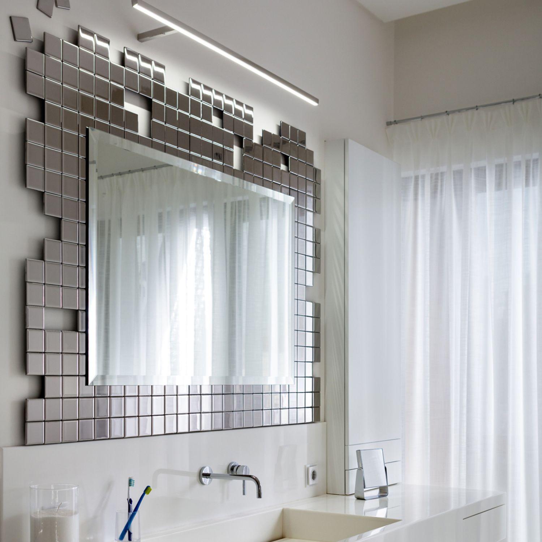 Miroir de salle de bain mural / lumineux / suspendu / de chambre à ...