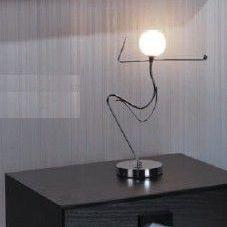 Lampe De Chevet Design Original En Nickel En Verre Bonecos