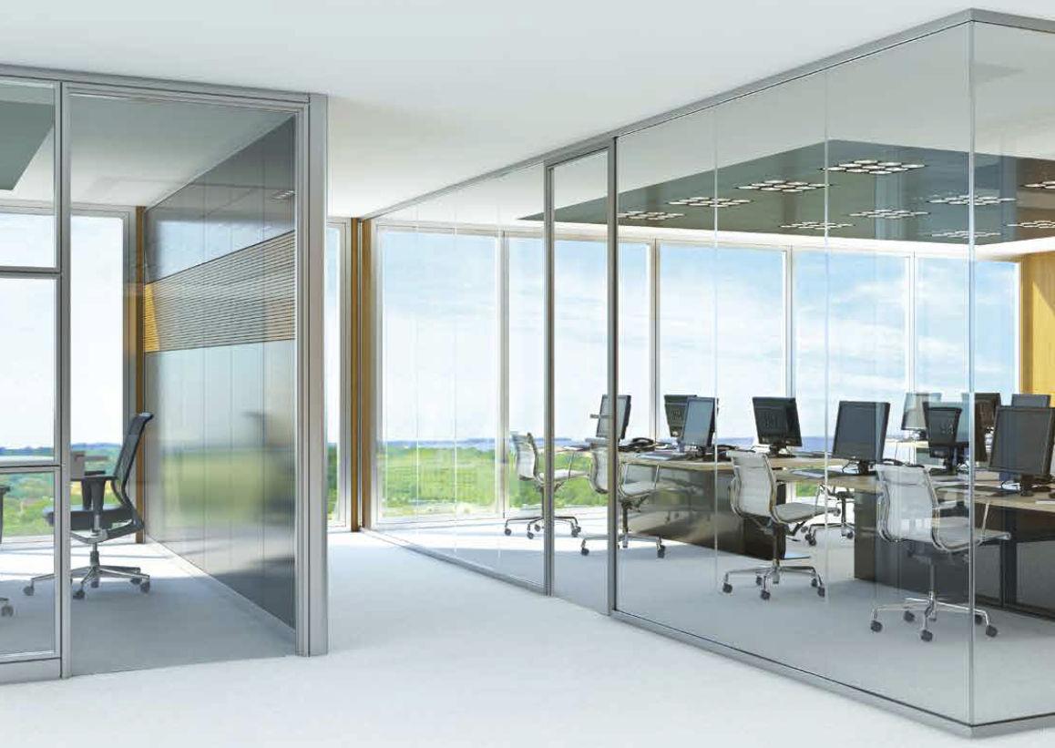 cloison amovible / vitrée / de bureau / transparente - interwall