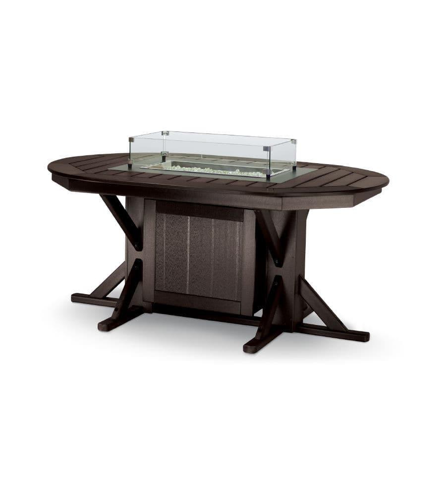 Table classique / en plastique recyclé / ovale / de jardin - FT4466 ...