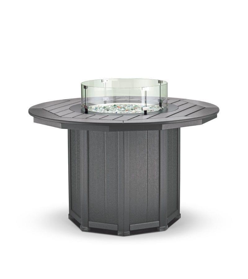 Table contemporaine / en plastique recyclé / ronde / de jardin ...
