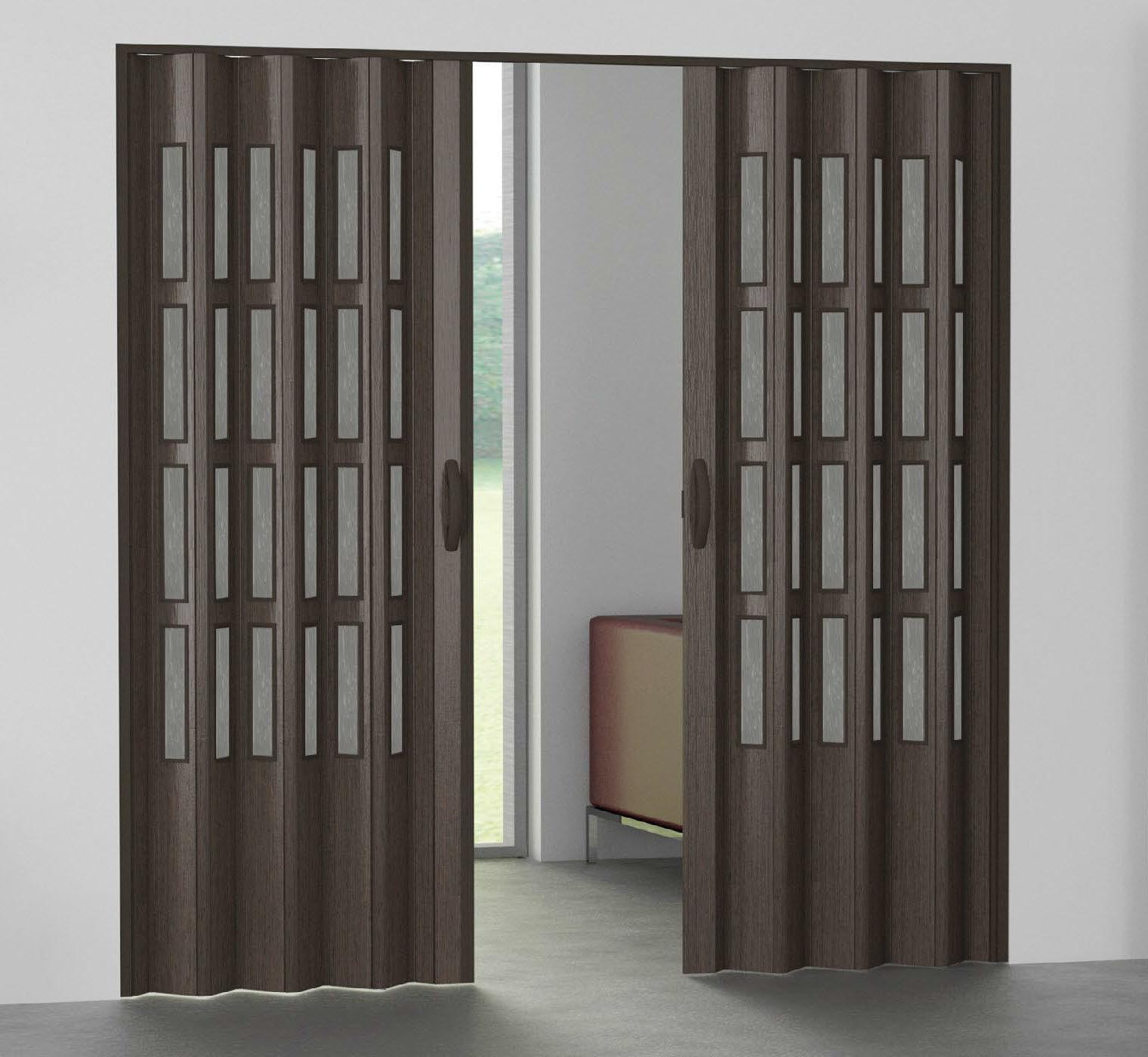 Porte D Interieur Pliante En Pvc Semi Vitree Pinto