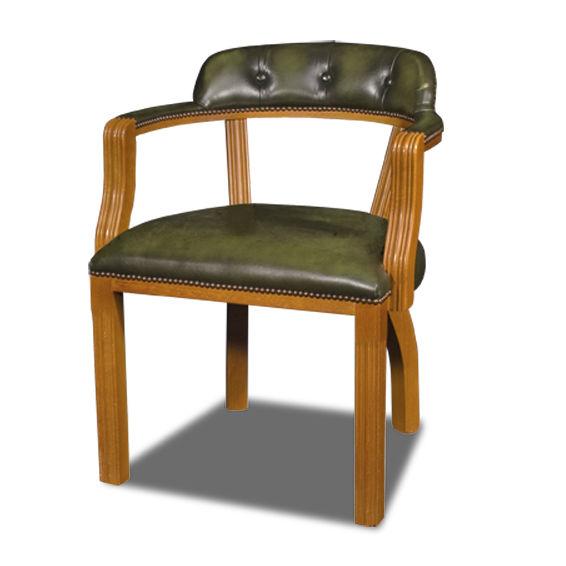 Bureau Cuir Tapissée Chaise Avec En Classique Accoudoirs De q5AjL34R