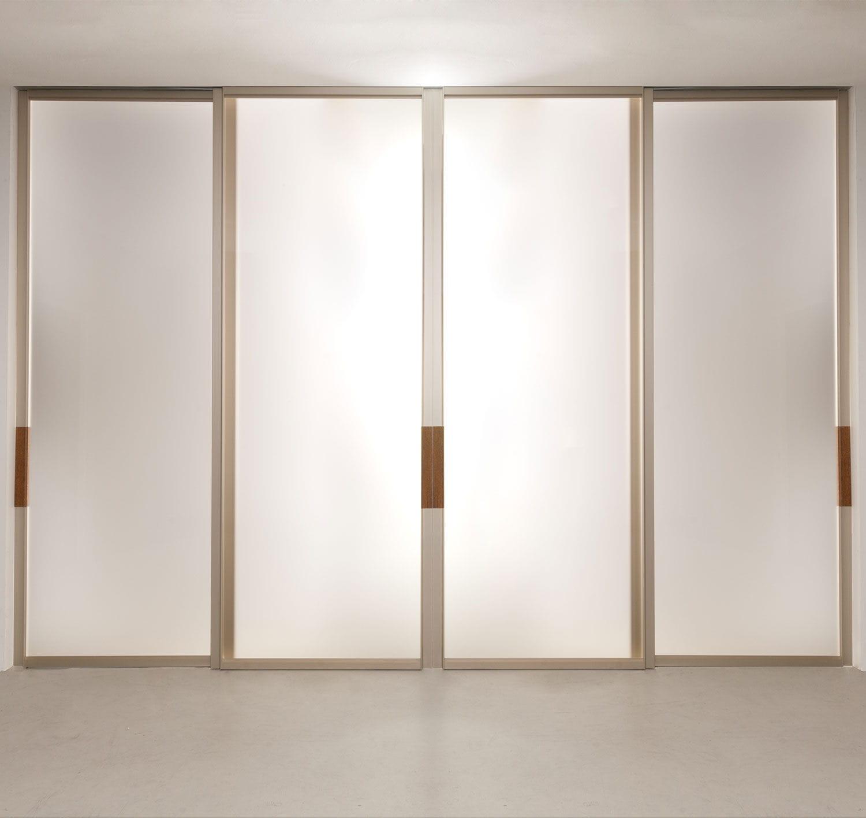 Porte Dinterieur Coulissante En Aluminium Vitrée QUINTA ALBED - Porte d interieur vitree
