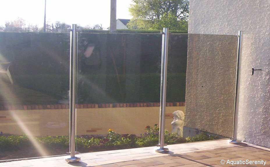 Clôture de jardin / à panneaux / en verre - OCEANIX - AQUATIC SERENITY
