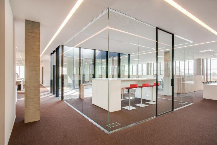 Cloison amovible en aluminium vitre de bureau CONCEPT AVC