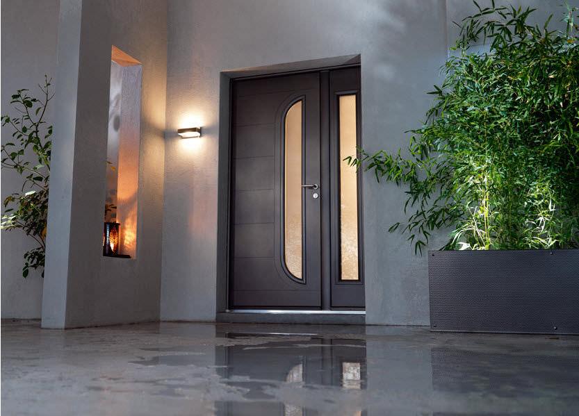 Porte Dentrée Battante En Aluminium NAUTICA BELM - Double porte d entrée