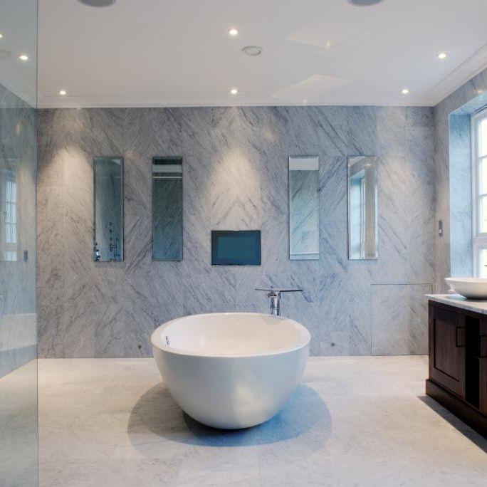 carrelage dintrieur de salle de bain mural en marbre beltracer bianco carrara cd