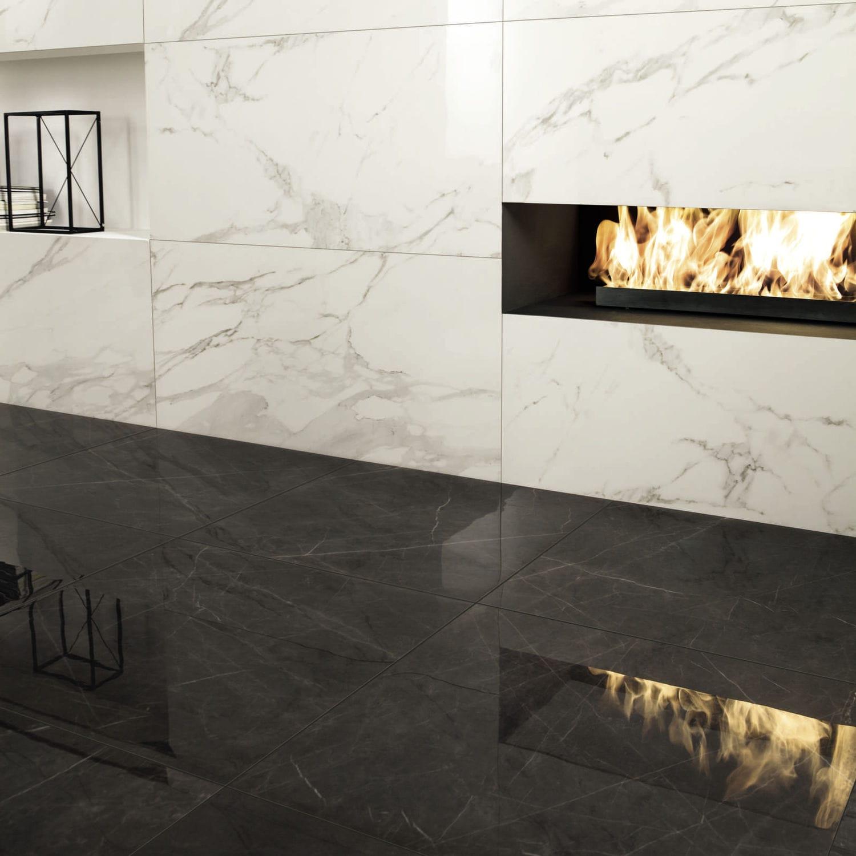Carrelage aspect marbre / d\'intérieur / pour sol / en grès cérame ...