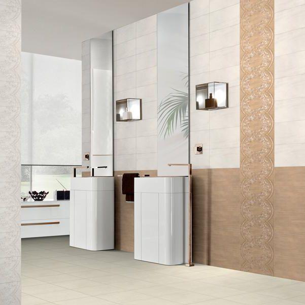 Carrelage de salle de bain / mural / en grès cérame / rectangulaire ...