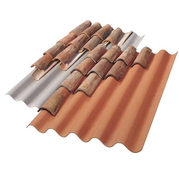 couverture en plaques en fibro-ciment / colorée / étanche