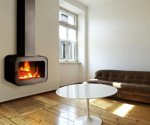 cheminee moderne bois