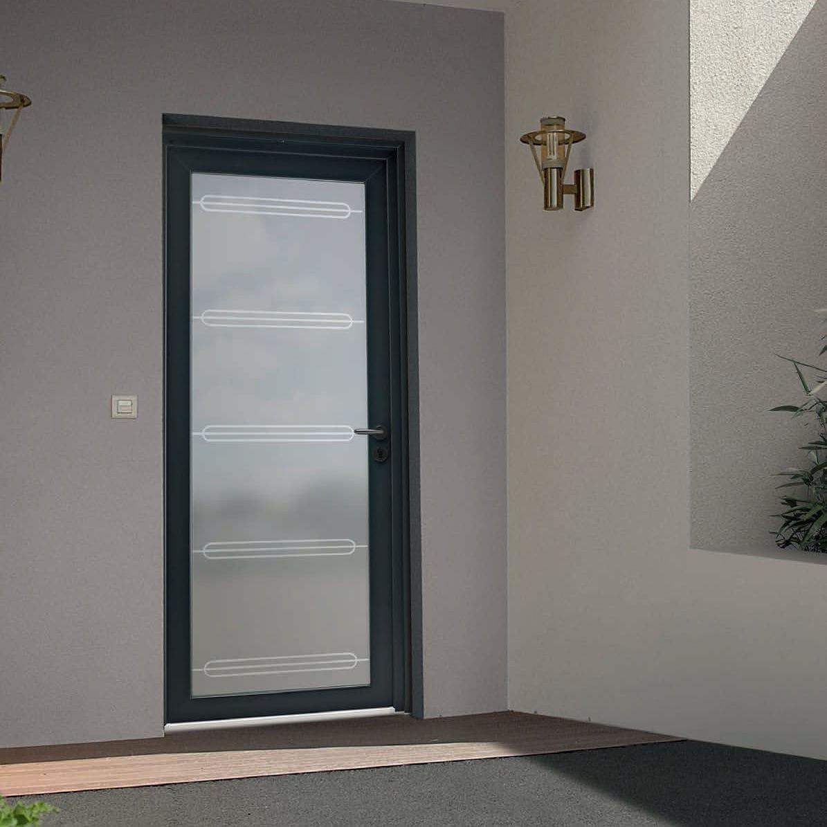 Porte d'entrée pvc vitrée