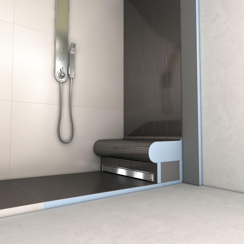 receveur de douche design extra plat en céramique