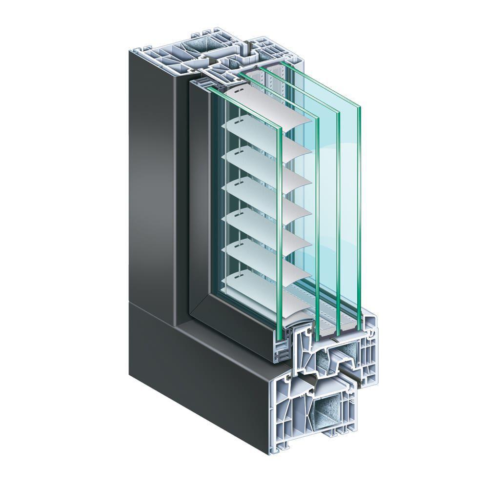 Profilé Pour Fenêtre En Aluminium En Pvc à Isolation Thermique
