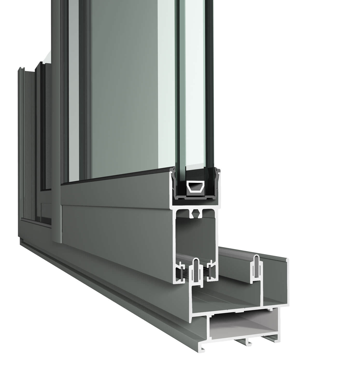 Système Coulissant Pour Porte En Verre CP PA Reynaers Aluminium - Système coulissant pour porte