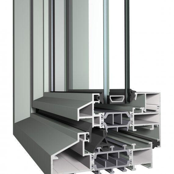 Profilé Pour Fenêtre En Aluminium à Isolation Thermique