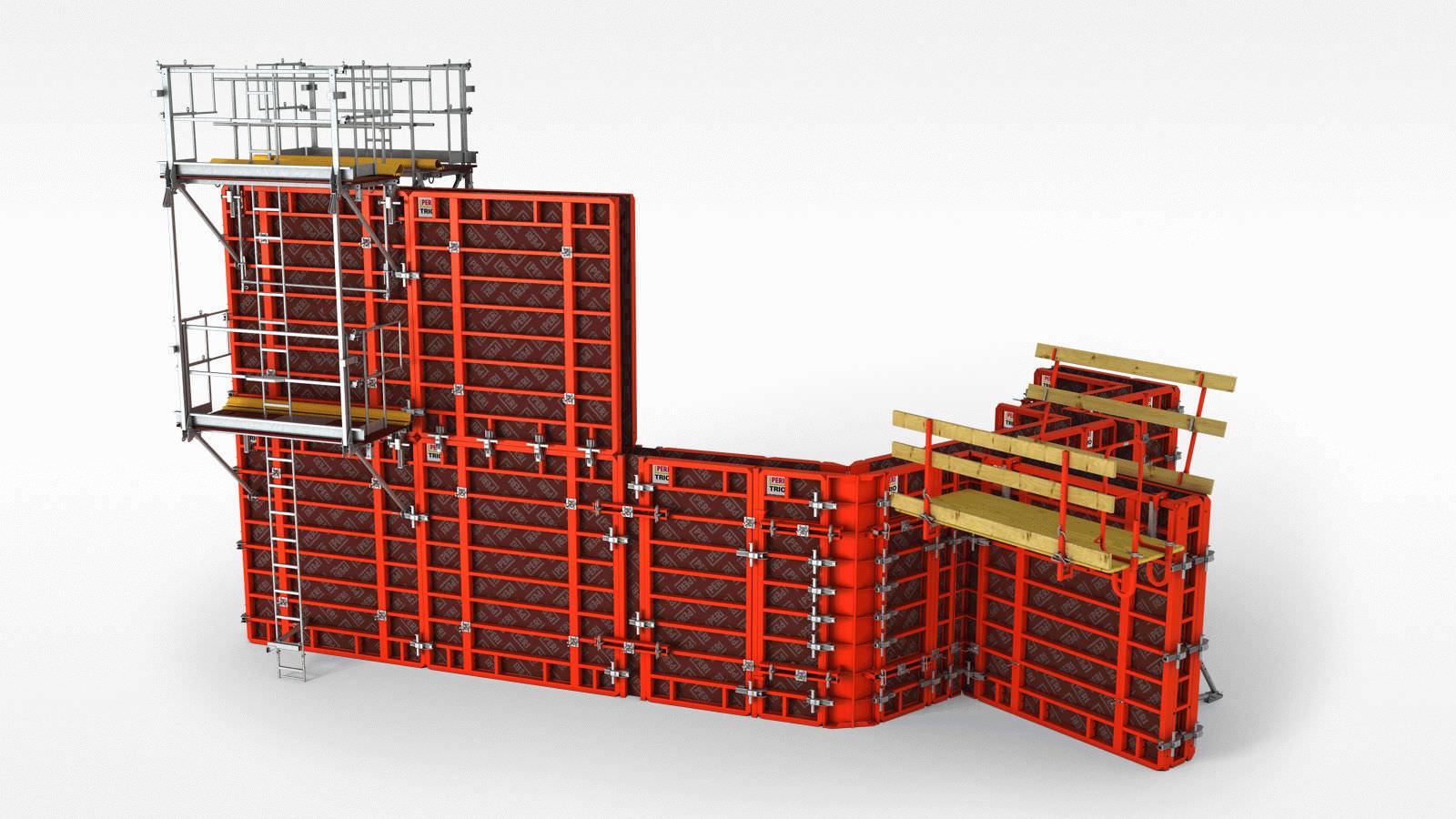 Coffrage cadre / modulaire / en métal / pour mur - TRIO - PERI S.A.S. - Mur Cadre Photo