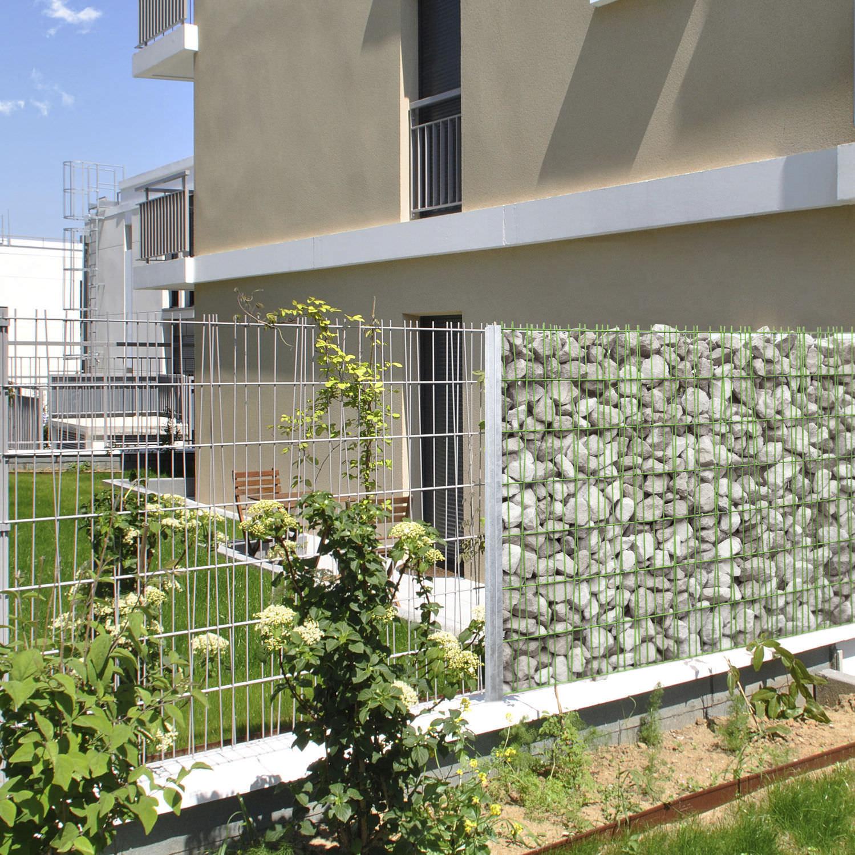 Clôture de jardin / pour espace public / grillagée / en acier ...