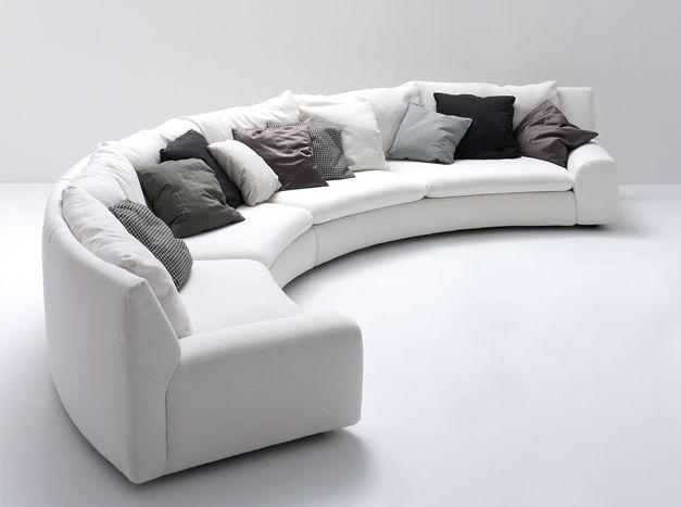 Canapé en arc de cercle modulable contemporain en tissu