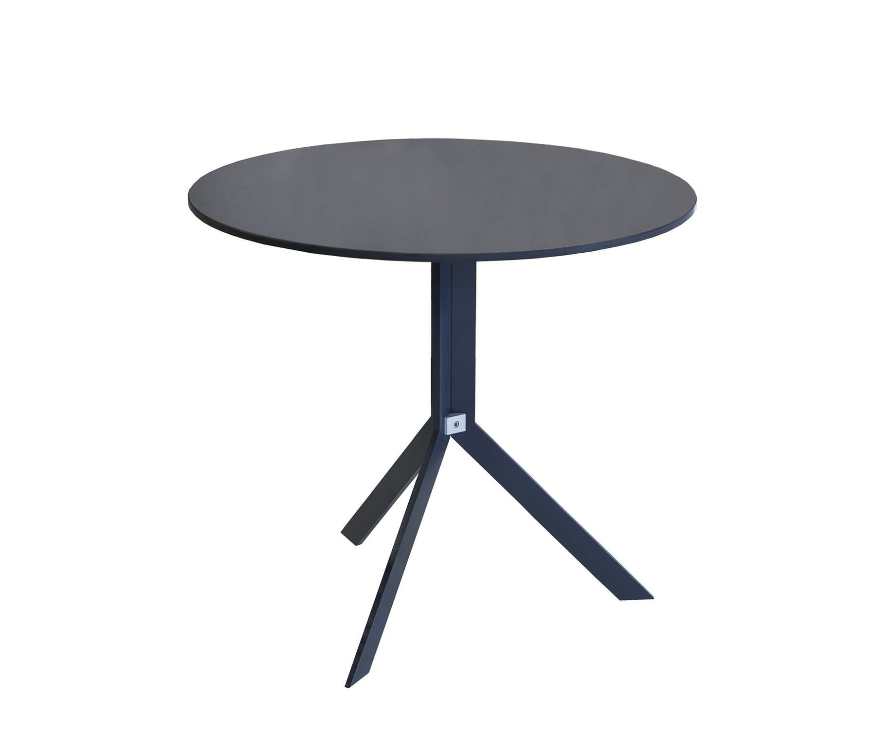 table bistrot contemporaine / en hpl / ronde / de jardin - bistro