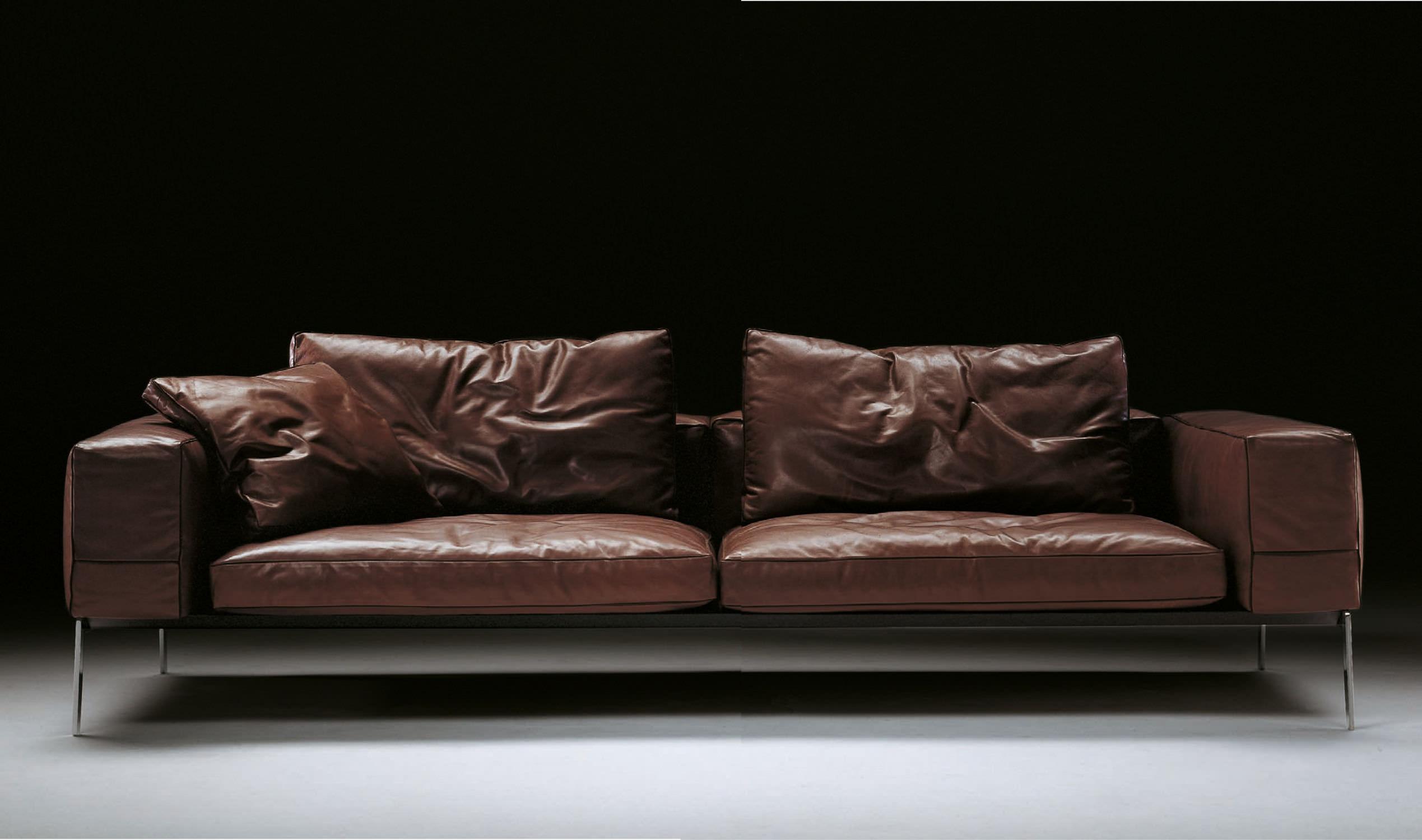 Canapé modulable / contemporain / en tissu / en cuir   lifesteel ...