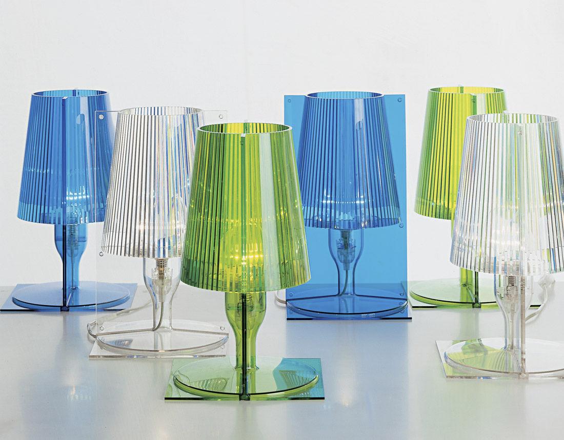 Lampe de table contemporaine en polycarbonate blanche take