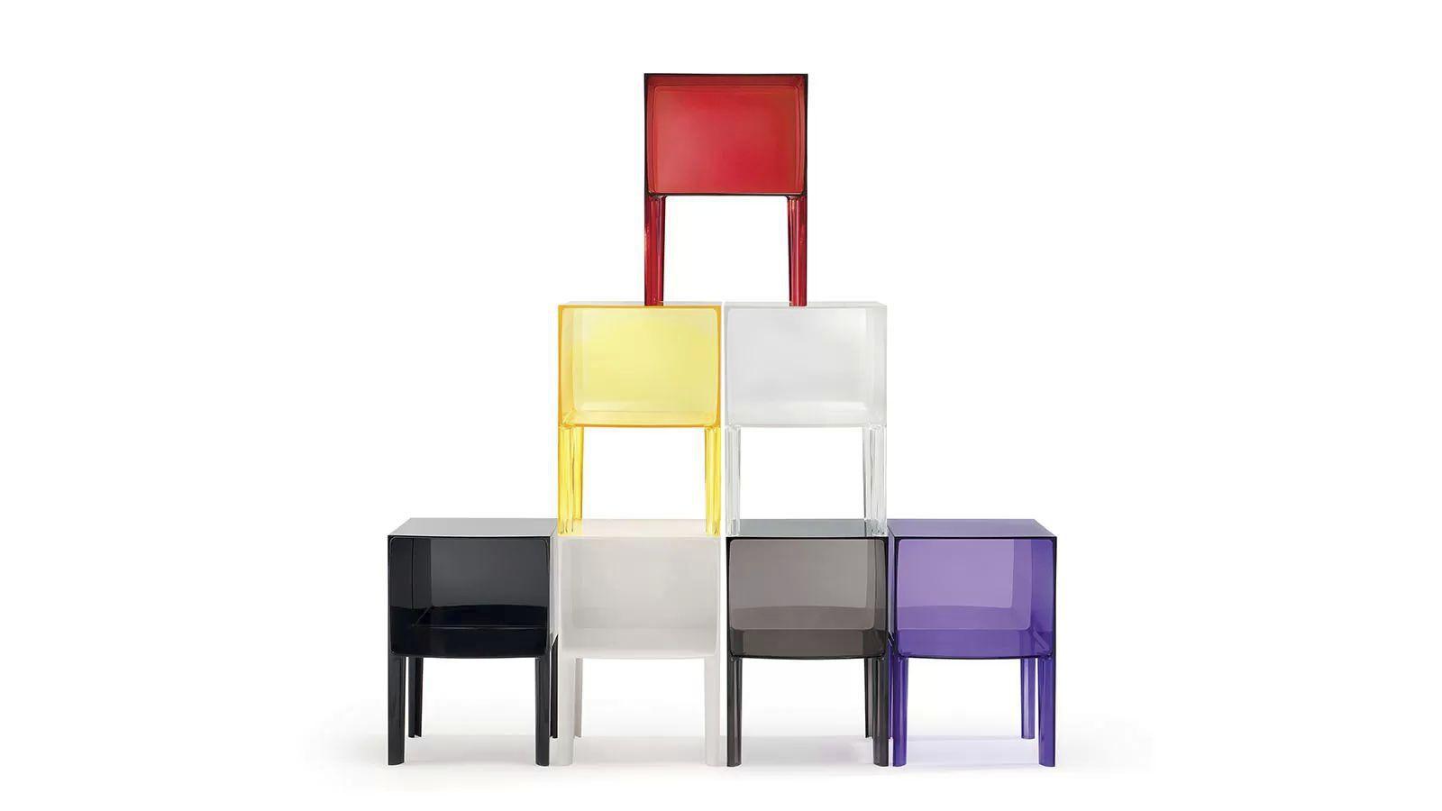 Ordinary Cube Table De Nuit #10: ... Table De Chevet Contemporaine / En Plastique / Cube / Carrée GHOST  BUSTER Kartell ...