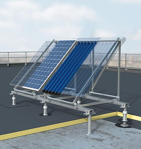 panneau solaire toiture plate