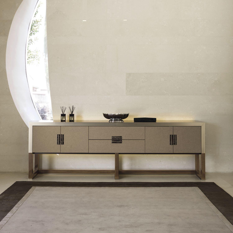 buffet contemporain / en bois / en métal / en cuir - armand y 765